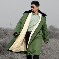 军大衣棉大衣男女冬季长款加厚黄大衣可拆洗保暖抗寒防寒服 均码