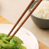 【用券立减50 满减】欧润哲 厨房原木色实用筷子鸡翅木筷 无蜡实木筷子圆滑餐具套装
