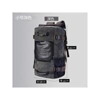 双肩包男户外旅行大背包电脑包大容量多功能帆布登山包 均码
