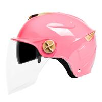电动摩托车双镜片头盔男女夏季防晒半盔轻便半覆式电瓶车安全帽