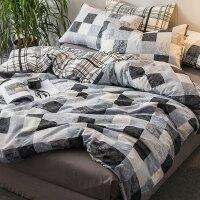 棉四件套棉1.8m床单被罩被子被单被套宿舍单人床上三件套1.5