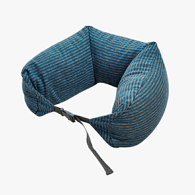 当当优品家纺 纯棉针织U枕 旅行枕午睡颈枕腰枕 钴蓝muji制造商