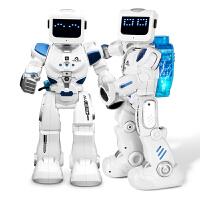 乐能阿尔法机器人水电混合智能遥控会跳舞对话机械战警儿童男玩具 送拼装积木+电子手表