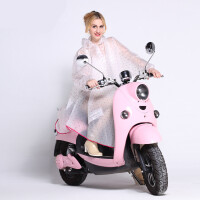 明嘉电动车摩托车雨衣女半透明户外骑行雨披