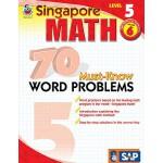 英文原版 新加坡数学70道必会应用题,第5级,6年级 Singapore Math 70 Must-Know Word