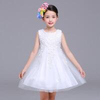 女童公主裙3-9岁春款长袖5纱裙4儿童礼服5连衣裙子潮