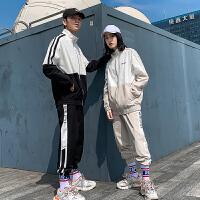 休闲套装男春秋季潮流韩版情侣一套装新款秋冬潮牌男装两件套