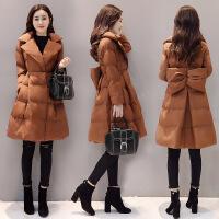 冬装新款女装韩版时尚棉衣中长款修身冬天棉袄可爱