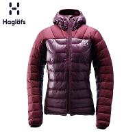 Haglofs火柴棍户外女款连帽轻量舒适保暖羽绒服603274 欧版