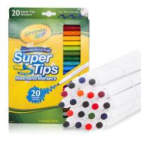 Crayola绘儿乐 58-8106 可水洗20色细杆水彩笔 当当自营