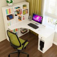 御目 电脑桌 简约现代板式转角台式儿童学生学习写字书桌写字台办公桌子带书架书柜满额减限时抢礼品卡儿童家具