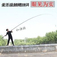 超硬超长大物竿 钓大鱼的巨物竿 台钓鱼竿手竿6H碳素野钓青鱼鲤鱼