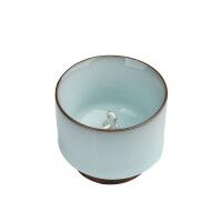 平水内银饰功夫茶具景德镇陶瓷单个品茗茶杯纯手工小号汝窖主人杯单杯