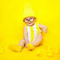 2018儿童摄影服装新款 百天半岁宝宝拍照影楼主题小黄鸭拍摄服装