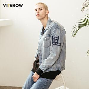 VIISHOW2018春季新款夹克男 牛仔复古风上衣男士潮流学生褂子外套