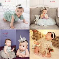 2018新款儿童摄影服装 影楼百天宝宝拍照相韩版服饰写真衣公主裙