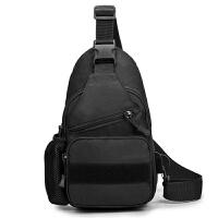 军迷户外骑行单肩包 带水壶套USB接口胸包 战术包 休闲男包斜挎包
