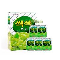 多省包邮 韩国进口饮料 LOTTE乐天葡萄汁238ml*12罐/箱 果汁饮品