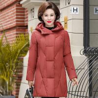 羽绒服 新品女中老年女装妈妈冬装棉衣40岁50中年人羽绒中长款外套棉袄上衣