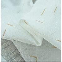 窗帘白纱色亚麻纱 客厅卧室阳台纱帘定制成品遮阳窗纱T