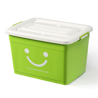 塑料整理箱特大号收纳箱被子衣物储物箱有盖收纳盒周转箱子 72*53*42 6个轮子带手提