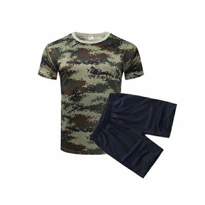 迷彩T恤短裤套装 儿童子夏令营短袖套装学生军训服T恤 发货周期:一般在付款后2-90天左右发货,具体发货时间请以与客服协商的时间为准