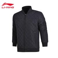 李宁短款棉服男士足球系列保暖上衣立领男装冬季运动服AJMM023