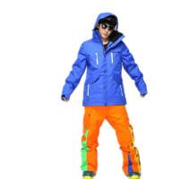 黑白单双板滑雪裤男款防风防水冬季加厚夹棉裤子大码户外透气雪地Xp1w