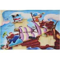 木玩世家 西班牙品牌GOULA果乐 拼图 25片海盗船拼图 53099