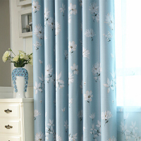 韩式田园小清新窗帘成品卧室客厅书房飘窗全遮光布料