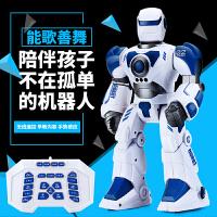 机器人玩具智能充电动会跳舞儿童玩具3-6岁男孩礼物遥控机器人f7v