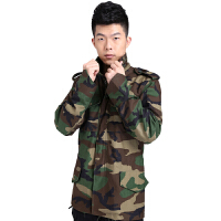 20180320225447287AOTU 户外运动服 休闲65丛林迷彩外套风衣 防水男冲锋衣军迷装备