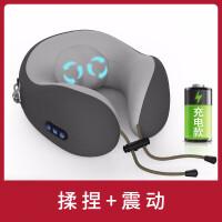 电动U型按摩枕头低头族神器充电揉捏神器暖心护颈仪颈椎肩部脖子多功能车载
