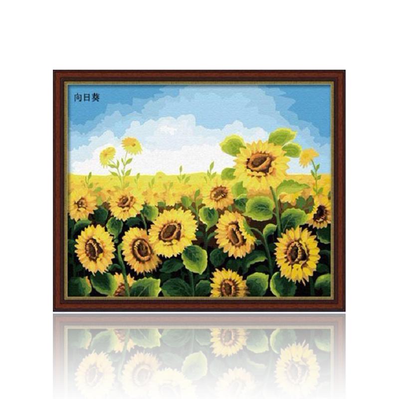 舞动色彩 花卉 diy数字油画风景彩绘装饰画