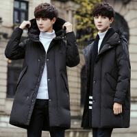 冬季新款男士羽绒服中长款青年韩版帅气修身外套男潮