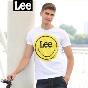 Lee商场同款2018春夏新款男士笑脸短袖T恤白 L296192LQK14