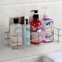 浴室不锈钢免打孔卫生间置物架厕所吸壁式洗漱用品收纳架壁挂吸盘