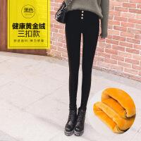 新款加绒加厚打底裤外穿女士高腰小脚裤紧身大码铅笔裤秋冬季保暖