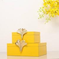 现代北欧新中式后美式家居首饰盒摆件创意实用装饰盒家居软装饰品