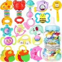 男孩婴儿新生玩具手摇铃牙胶0-1岁宝宝儿童幼儿男孩3女孩12个月6 早教 益智玩具