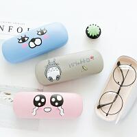 近视眼镜盒女可爱学生韩国小清新女复古优雅便携收纳眼睛盒女时尚款