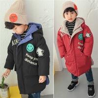 童装男童2017新款韩版中长款冬季儿童加厚棉衣宝宝冬装外套