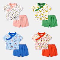 婴儿睡衣套装男婴幼儿居家服两件套女童轻薄夏装宝宝