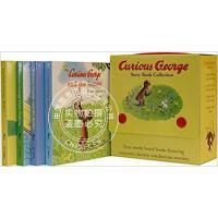 现货 Curious George Four Board Book Set 英文原版 好奇的乔治猴纸板书四册套装 进口童
