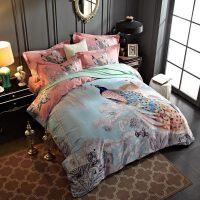 家纺纯棉磨毛四件套全棉加厚冬季保暖双人床单被套1.8米床上用品2.0m