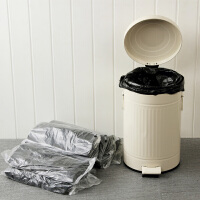 【满减】欧润哲 12L厚制垃圾桶清洁塑料袋 大号垃圾袋黑色背心式收纳袋子套装