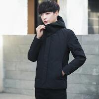男士连帽棉衣冬季新款短裤时尚休闲加厚保暖青年学生潮流外套