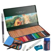 马可水溶性彩色铅笔 3120-36TN 铁盒6件套装 填色彩铅 可画秘密花园、魔法森林、飞鸟等入门手绘涂色书本