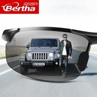 墨镜男士新款潮人个性开车变色偏光圆脸眼睛司机驾驶眼镜男太阳镜