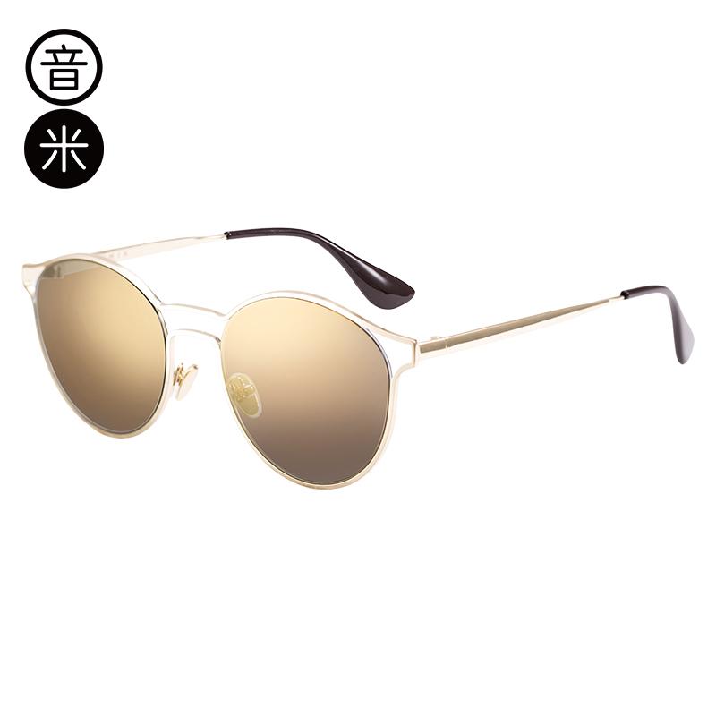 音米新款时尚炫彩太阳镜女司机镜 金属镜框墨镜女潮 AASAJH422